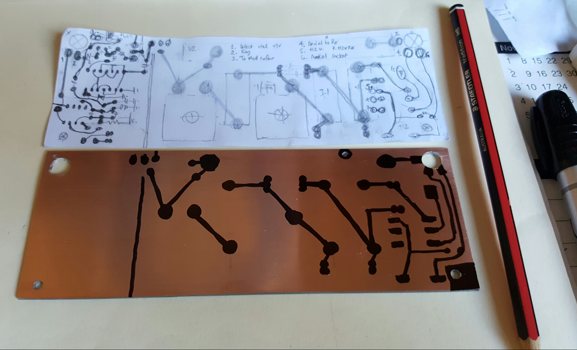 Artisan Printed Circuit Boards Vk3hn Board Artwork Stripboard And Breadboard Layout Have Your Personal Choice Of 160 Meters Am Or 40 Cw Running Quietly In The Background For Ambiance Youll Concentrate Better