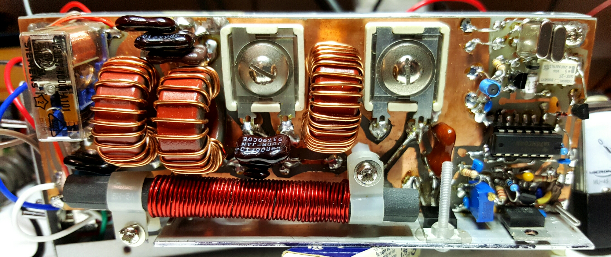 Homebrew 160 Meter Am Cw Transmitter Receiver Vk3hn Simple For A 50 Watt Audio Module Using Lm3876 Jaycar Drives The 275v Tap On 24030v Power Transformer 240v Primary Is Unused